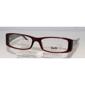 New Dolce & Gabbana Burgundy Eyeglasses